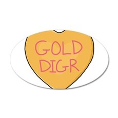 GOLD DIGR Wall Decal