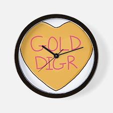 GOLD DIGR Wall Clock