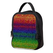 Rainbow Knit Photo Neoprene Lunch Bag
