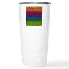 Rainbow Knit Photo Travel Mug