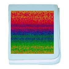 Rainbow Knit Photo baby blanket