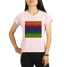 Rainbow Knit Photo Performance Dry T-Shirt