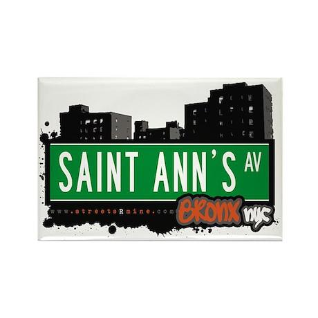 Saint Ann's Av, Bronx, NYC Rectangle Magnet (10 p