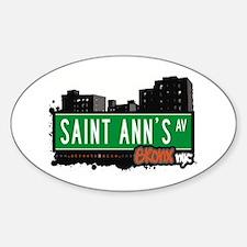 Saint Ann's Av, Bronx, NYC Oval Decal
