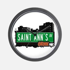 Saint Ann's Av, Bronx, NYC  Wall Clock