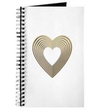 3-D Gold and Silver Heart Journal