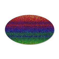 Rainbow Knit Photo Wall Decal