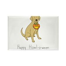 Howl-o-ween Dog Rectangle Magnet