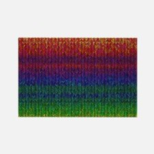 Rainbow Knit Photo Rectangle Magnet