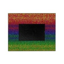 Rainbow Knit Photo Picture Frame