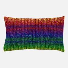 Rainbow Knit Photo Pillow Case