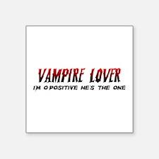 "Vampire Lover Square Sticker 3"" x 3"""