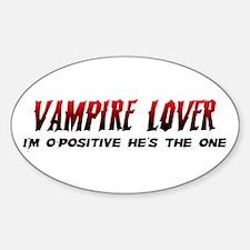 Vampire Lover Sticker (Oval)