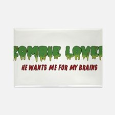 Zombie Lover - Rectangle Magnet
