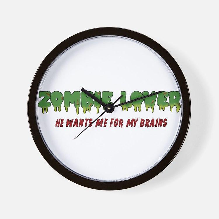 Zombie Lover - Wall Clock