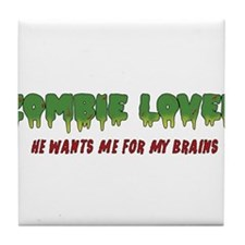 Zombie Lover - Tile Coaster