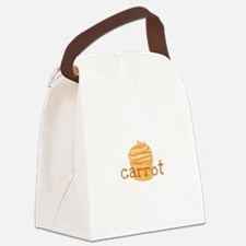 Carrot Cupcake Canvas Lunch Bag
