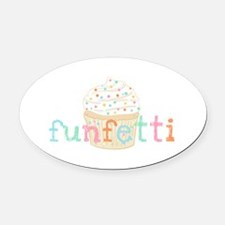 Vanilla Funfetti Oval Car Magnet