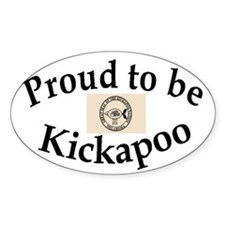 Kickapoo Oval Decal