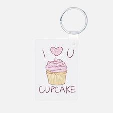 I Heart You Cupcake Keychains