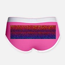 Rainbow Knit Photo Women's Boy Brief