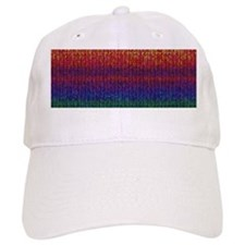 Rainbow Knit Photo Baseball Cap