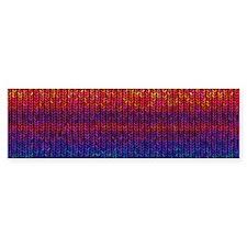 Rainbow Knit Photo Bumper Sticker