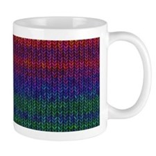 Rainbow Knit Photo Mug