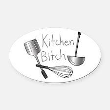 Kitchen Bitch Oval Car Magnet
