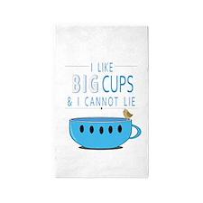 I like big cups I cannot lie 3'x5' Area Rug