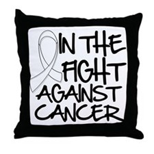 In The Fight Mesothelioma Throw Pillow