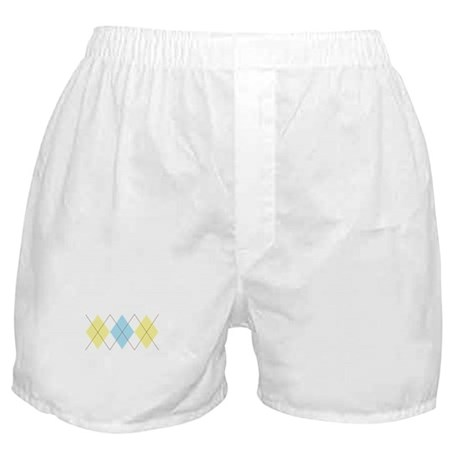 Argyle Pattern Boxer Shorts