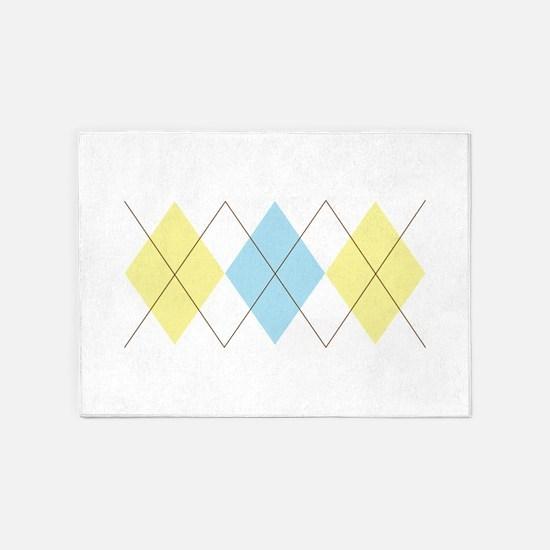 Argyle Pattern 5'x7'Area Rug