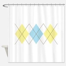 Argyle Pattern Shower Curtain