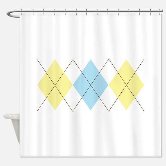 Argyle Pattern Shower Curtain