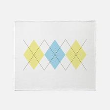 Argyle Pattern Throw Blanket