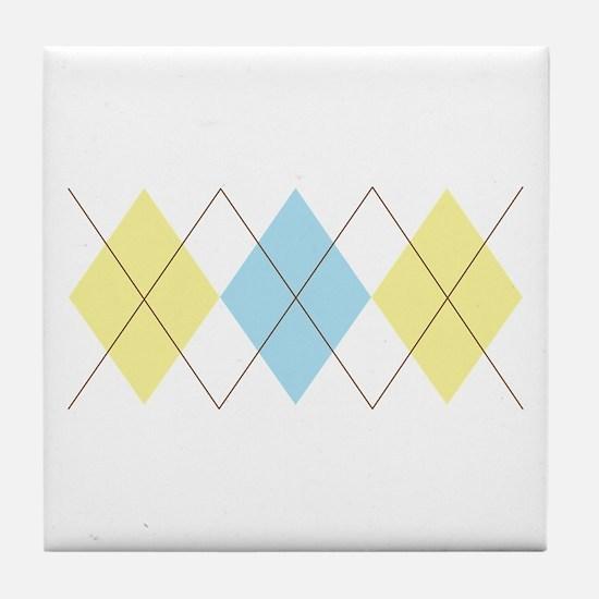 Argyle Pattern Tile Coaster