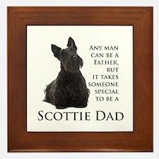 Scottie Dad Framed Tile