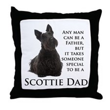 Scottie Dad Throw Pillow