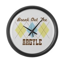 Break Out the Argyle Large Wall Clock