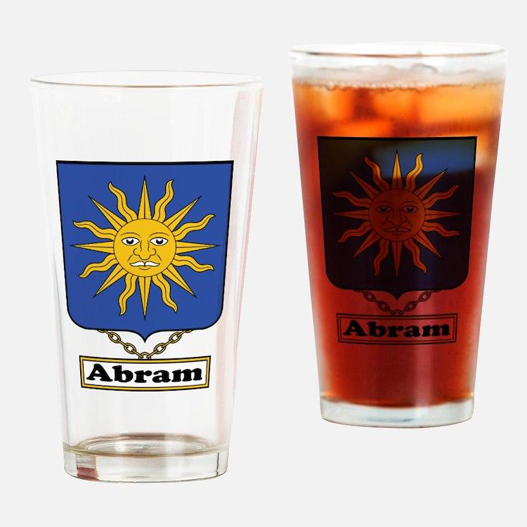 Abram Family Crest Drinking Glass