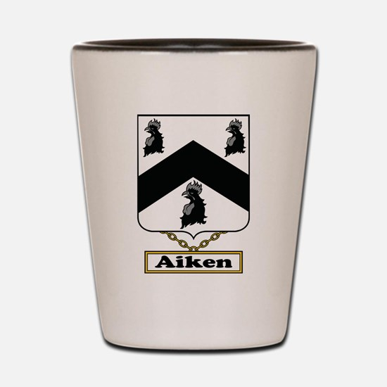 Aiken Family Crest Shot Glass
