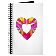 3-D Pink and Yellow Heart Journal