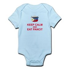 Keep Calm and Eat Pancit Infant Bodysuit
