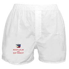 Keep Calm and Eat Pancit Boxer Shorts