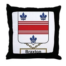 Braxton Family Crest Throw Pillow