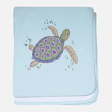 Cute Sea turtles baby blanket