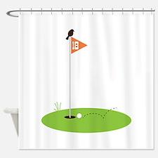 Golf Green Shower Curtain
