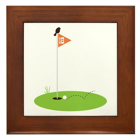 Golf Green Framed Tile