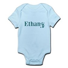 Blue Ethan Name Body Suit